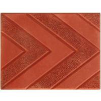 Плитка тротуарная «Ель», цвет красный