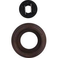 Рамка для розеток и выключателей Electraline Старое Дерево 1 пост, цвет коричневый