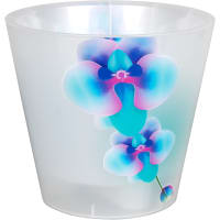 Горшок цветочный «Фиджи» D16, 1, 6л., пластик, Белый, Синий