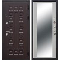 Дверь входная металлическая Сенатор 12 см, 860 мм, правая, цвет зеркало дуб сонома