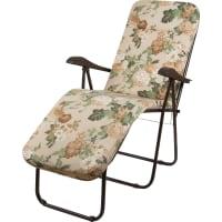 Кресло-шезлонг Ривьера 154х65х111 см металл коричневый/бежевый с принтом