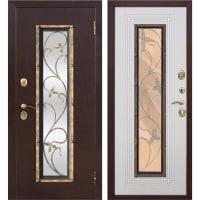 Дверь входная металлическая Плющ, 960 мм, правая, цвет белый ясень
