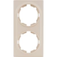 Рамка для розеток и выключателей Onekey Florence 2 поста, цвет бежевый