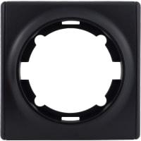 Рамка для розеток и выключателей Onekey Florence 1 пост, цвет чёрный