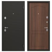 Дверь металлическая Гарант, 860 мм, левая, цвет антик орех