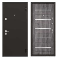 Дверь металлическая Гросс Техно, 960 мм, левая, цвет дуб серебристый