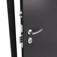 Дверь металлическая Термо С-2М, 880 мм, правая, цвет коричневый