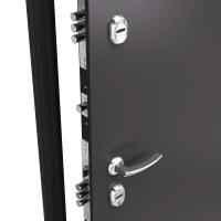 Дверь металлическая Термо С-2, 880 мм, левая, цвет лесной орех