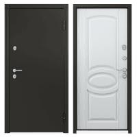 Дверь металлическая Термо С-2, 880 мм, правая, цвет белый