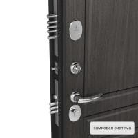Дверь металлическая Контрол Мария, 960 мм, левая, цвет серый дуб