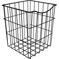 Корзина для белья в шкаф, 25х25х30 см, цвет чёрный
