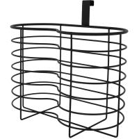 Органайзер для туалетной бумаги Ferro 4 рулона, сталь, цвет чёрный