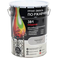 Грунт эмаль по ржавчине 3 в 1 гладкая Dali Special цвет серый 5 кг