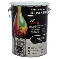 Грунт эмаль по ржавчине 3 в 1 гладкая Dali Special цвет черный 5 кг