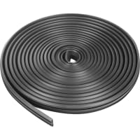 Уплотнитель для деревянных окон и дверей 17х6 мм, 5.5 м, цвет чёрный
