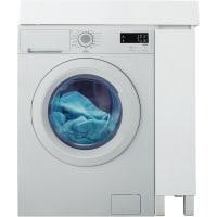 Тумба под стиральную машину напольная «Лайн» 20 см цвет белый