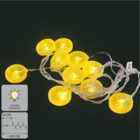 Гирлянда светодиодная Uniel «Лимон» на батарейках 4 м цвет золотой