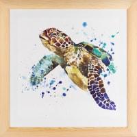Постер в раме 40х40 см «Черепаха»