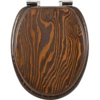 Сиденье для унитаза «Лондон» фанера, микролифт, цвет коричневый