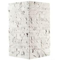 Плитка декоративная Хайлэнд угловая, цвет белый, 1.04 мп
