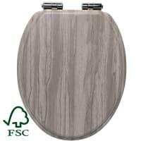 Cиденье для унитаза Sensea Purity овальное цвет серый дуб