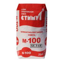 Смесь цементно-песчаная Стимул М100, цвет белый, 25 кг