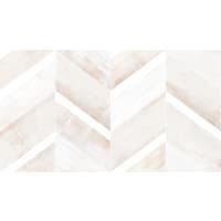 Декор настенный «Блю шеврон Полосы» 25x45 см цвет бежевый