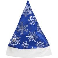 Шапка маскарадная новогодняя «Колпак со снежинками» 100-4