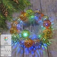 Электрогирлянда светодиодная «Ажурные шарики» для дома 20 ламп, цвет мультиколор