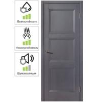 Дверь межкомнатная глухая с замком и петлями в комплекте Трилло 60x200 см , Hardflex, цвет грей