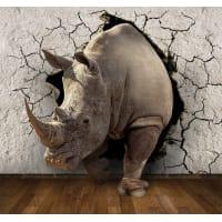 Фотообои 3D Flizart «Носорог», флизелиновые, 300x280 см