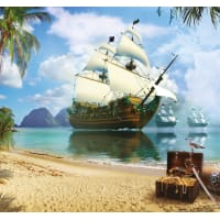 Фотообои 3D Flizart «Пиратская гавань», флизелиновые, 300x280 см