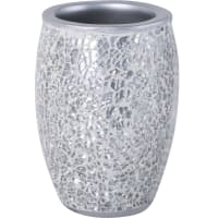 Стакан для зубных щёток «Snow» полирезина цвет серебро