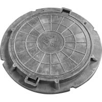 Полимерпесчаный люк колодца Ø580 мм 1.5 т цвет чёрный