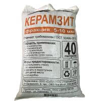Керамзит фракция 5-10 мм 40 л