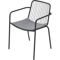 Кресло садовое с подушкой 560x760x540 мм, металл, цвет чёрный