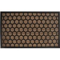 Коврик Porto 1086 45x75 см, резина, цвет коричневый