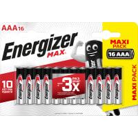Батарейка алкалиновая Energizer Max AAA, 16 шт.
