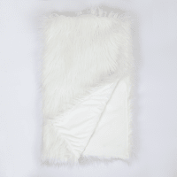 Плед Sally 130x160 см искусственный мех цвет белый