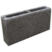 Блок перегородочный керамзитобетонный М35 390x188x90 мм