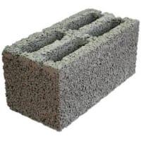 Блок стеновой керамзитобетонный М50 390x190x188 мм