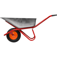 Тачка садовая одноколесная усиленная 200 кг/90 л