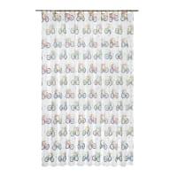 Тюль на ленте «Велосипеды», 250x280 см цвет белый
