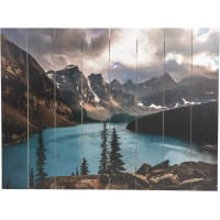 Картина на досках «Горное озеро» 60x80 см