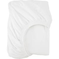 Простыня полутораспальная, 140x200 см, трикотаж, цвет белый