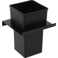 Держатель стакана для зубных щёток Lund металл цвет чёрный