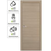 Дверь межкомнатная глухая 80x200 см, ламинация, цвет ясень коричневый