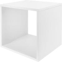 Стеллаж КУБ 1 секция 36х36х32 см ЛДСП цвет белый