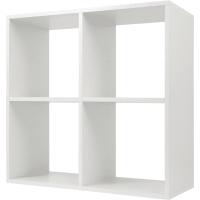 Стеллаж КУБ 4 секции 70.5х70.5х32 см ЛДСП цвет белый