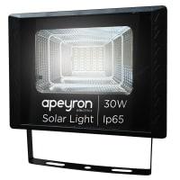 Прожектор светодиодный уличный Apeyron на солнечной батарее 30 Вт 4200К IP65 с датчиком освещённости